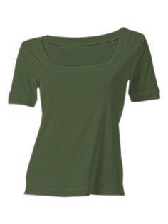 BEST CONNECTIONS Carré-Shirt dunkelgrün