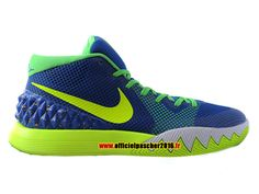 Officiel Nike Kyrie 1 iD Chaussures Nike Basket-ball Pas Cher Pour Homme Blue - White - Green 705277-417