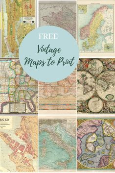 A wonderful collection of fabulous free vintage maps to down Vintage Maps, Antique Maps, Vintage Map Decor, Antique World Map, Vintage Crafts, Country Maps, Country Crafts, Map Wrapping Paper, Map Crafts