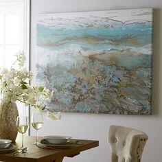 Coastal Air Abstract Art - #BeachHouseDecor #CoastalDecor