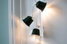 Lichterkette einfach selbst basteln aus Nespresso Kaffeekapseln