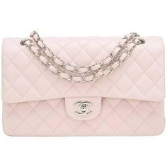 74d7f333c448d1 Chanel light pink Medium Classic double flap bag of lambskin leather with  silver tone hardware. Shop authentic Chanel at Madison Avenue Couture.
