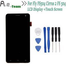 Wysokiej Jakości Dla Fly FS504 Cirrus 2 Wyświetlacz LCD + Ekran Dotykowy Digitizer Wymiana Dla Fly FS 504 5.0 inch Smartphone + Narzędzia