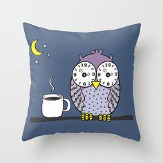 insomnia Throw Pillow by Vivi Nicolin - $20.00 - Buy here: http://society6.com/vivinicolin/insomnia-jGd_Pillow