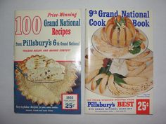 Vtg 1955 6th 9th 100 Grand National Cookbook Recipes Pillsbury's Baking Contest  ..... We are TOP RATED * POWER Sellers on EBAY * Selling WORLDWIDE. Visit us at our EBAY STORE * 4COOLSTUFF2BUY with any questions or items for sale.