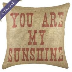 """Burlap pillow with a typographic motif. Handmade in the USA exclusively for Joss & Main.  Product: PillowConstruction Material: Burlap cover and fiber fillColor: Red and beigeFeatures:  Handmade by TheWatsonShopInsert includedMade in the USA Dimensions: Small: 16"""" x 16"""" Medium: 18"""" x 18"""" Large: 20"""" x 20""""Extra Large: 22"""" x 22""""Cleaning and Care: Spot clean"""