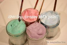 Shaving Cream Bath Paint! - The Imagination Tree