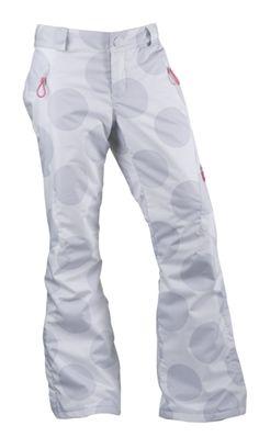 $120 polka dot ski pants!  @Alexis Ostrom this so you!