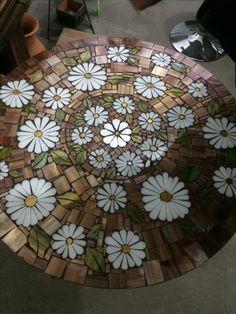 Mosaico em vidro prato giratório