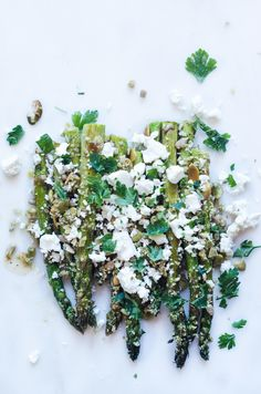 Asparagus with Pumpkin Seeds and Feta Cheese Recipe