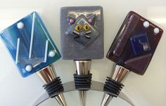 From one of our Wine Stopper Workshops - LOVE the cat! --Glassateria