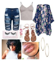 """🍃 Lipgloss & Clear skin Type of Summer 🍃"" by bvby-lxv ❤ liked on Polyvore featuring BasicGrey, Lydell NYC, Boohoo and Blossom"