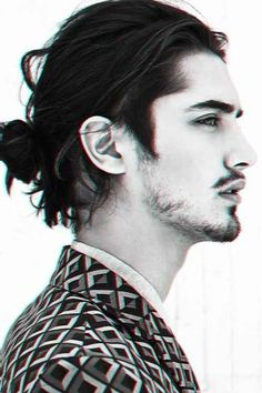 The blurry man bun. I am just obsessed with men who have long, beautiful hair...It's a weakness.