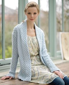 Free Cabled Jacket Debble Bliss Knitting Pattern