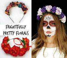 Mexican Day of the Dead Floral Headdresses
