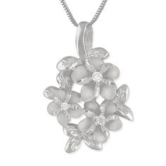 Sterling Silver 3 Plumeria and Maile Round Pendant Necklace, 16 2' Extender >>> Details can be found by clicking on the image. (This is an affiliate link and I receive a commission for the sales)