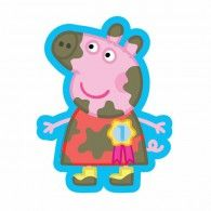 Shape Peppa Pig Muddy $17.95 U29747 Peppa Pig, Serviettes Roses, Table Rose, Princess Peach, Smurfs, Balloons, Shapes, Fictional Characters, Blue Tablecloth