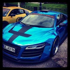 Anodised Blue Audi R8