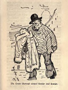 G. K. Chesterton's illustrations for 'The Green Overcoat' by Hilaire Belloc