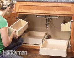 DIY Slide Out Drawers ~ This should be done in every kitchen.