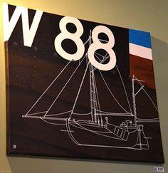 KW 88 - Kunst aan de muur in Café Boeien Katwijk aan Zee