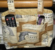 Walker Caddy, Bedrail Caddy, Treadmill Caddy, Rocking Chair Caddy, TV Remote Caddy, Remington Print - Ready to Ship by CilesBoutique on Etsy