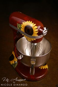 Custom painted KitchenAid Mixer by Nicole Dinardo. I think @catherine gruntman gruntman Kolb would LOVE this!