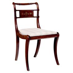 Regency Brass Inlaid Side Chair