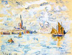 Paul Signac, Venice, gouache & pencil on paper Watercolors, Sailing & Signac | Paint Watercolor Create