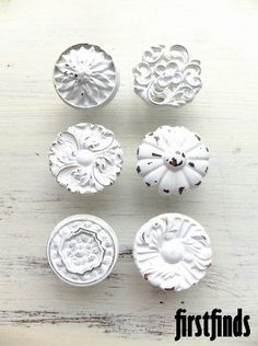 Misfit Knob Set  Shabby Chic by Firstfinds on Etsy, $26.00