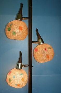 Atomic Pole Lamp for the screened in porch for playing cards or doing puzzles.