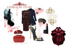 """Indulge Your Dark Side with Crimson Peak : Contest Entry"" by rosen-plamenov-parushev ❤ liked on Polyvore featuring Alexander McQueen, Giuseppe Zanotti, Vivienne Westwood, NARS Cosmetics and vintage"