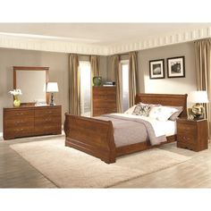 Royal Oak Queen Sleigh Bedroom Collection - http://delanico.com/bedroom-sets/royal-oak-queen-sleigh-bedroom-collection-551325929/
