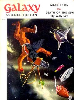 """""""Galaxy Science Fiction"""" magazine cover: Picnic in Space"""