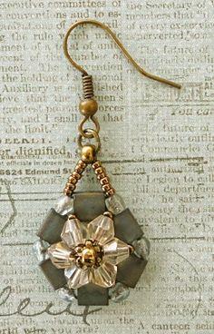 Linda's Crafty Inspirations: Desert Flowers Earrings