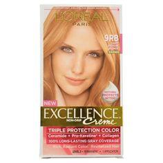 L'Oreal Paris Excellence Crème with Pro-Keratine Complex, Light Reddish Blonde 9RB