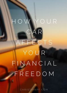 The thing I have noticed is that so many people give up financial freedom for their whole lives solely because of the decisions they make with their cars. I know it sounds like a bold statement, but I think it is frightening how true it is. For most people, a car is the second largest purchase they ever make. Second only to their home...