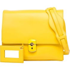 Balenciaga Padlock All Day Yellow ($1,595) ❤ liked on Polyvore