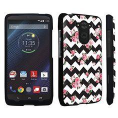 DuroCase ® Motorola DROID Turbo XT1254 Hard Case Black - (Black Pink Roses Chevron), http://www.amazon.com/dp/B00RV00U70/ref=cm_sw_r_pi_awdl_qhP6ub1PJJ9PQ
