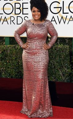 Yvette Nicole Brown from 2017 Golden Globes Red Carpet Arrivals