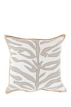 Zest of Zebra Pillow - Gray/Tangerine