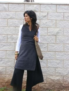 Winter Fleece ASIAN TUNIC empire cut by SHIHAR (etsy item, not a pattern)