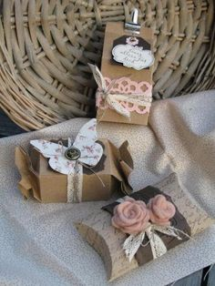 Bellos envoltorios wedding favor box vintage