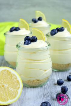 Lemon Cheesecake Mousse - A no-bake dessert made with only three ingredients! This Lemon Cheesecake Mousse Dessert, Cheesecake Mousse Recipe, Easy Cheesecake Recipes, Dessert Cake Recipes, Lemon Cheesecake, Lemon Desserts, Healthy Dessert Recipes, Dessert Blog, Homemade Cheesecake