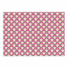 KESS InHouse Mayacoa Studio 'Rosea' Yellow Pink Dog Place Mat, 13' x 18' *** New and awesome dog product awaits you, Read it now  : Dog food container