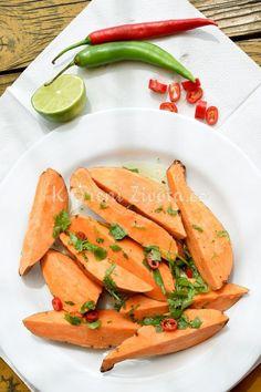 Vyzkoušejte netradiční recept na grilované batáty s chilli a limetou :-)