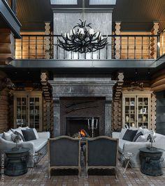 Rustic Modern Cabin, Rustic Home Design, Dream Home Design, House Design, Cedar Homes, Log Homes, Mountain Home Interiors, Cabin Chic, English Interior