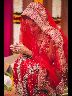 Red bridal lehenga, desi bride,