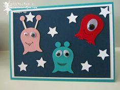 stampin up punch art aliens eulenstanze owl punch stars