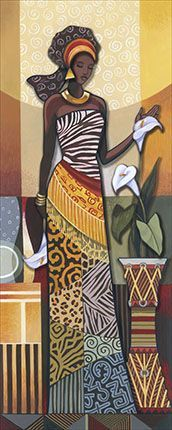 This Pin was discovered by Nac African American Art, African Women, African Fashion, Black Women Art, Black Art, Art Afro, Indian Women Painting, African Quilts, African Culture